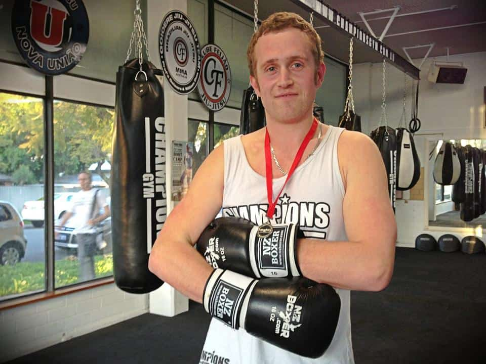 Michael Spence, 25, Plumber. Student of the Month; has lost 4 kilos since starting training!