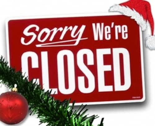 Sorry We're closed for Christmas