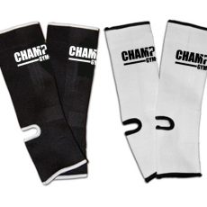 Champions Gym Ankle supportsfor Muay Thai, MMA, Mixed Martial Arts, Cage fighting,  Boxing & Fitness Training. Unisex design, with printed graphics, quality construction 100% cotton for maximum comfort and flexibility.