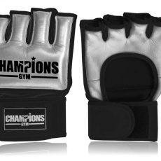 Champions Gym® Competition MMA Gloves for Muay Thai, MMA, Boxing & Fitness Training. Velcro strap, full leather construction, quality leather, handcrafted gloves and hand moulds.