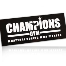 Champions Gym MMA Shortsfor Muay Thai, MMA, Mixed Martial Arts, Cage fighting,  Boxing & Fitness Training. Quality polyester construction. Dual waist lace up and velcro closing as well as micro fibre stretchable flex panel under the legs for maximum comfort and flexibility.