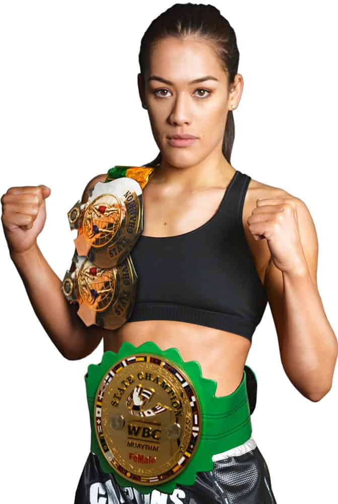2 x WMC lightweight state female champion  1 x WBC Muaythai lightweight state female champion